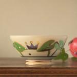 カフェオレボウル 芋の葉っぱと王冠